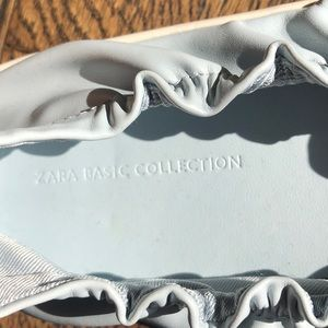 EUC Zara buttery soft leather elastic slip on